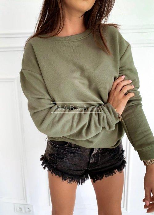 Bluza w stylu basic w kolorze khaki - REGULAR