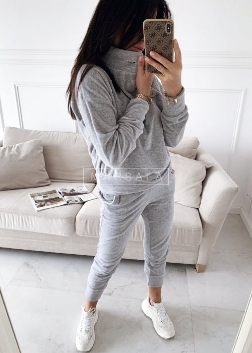 Sweatshirt velour set in grey – VELVET
