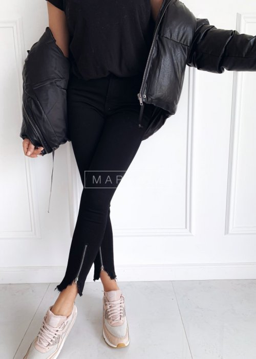 Black zip trousers - BLACK WOLF