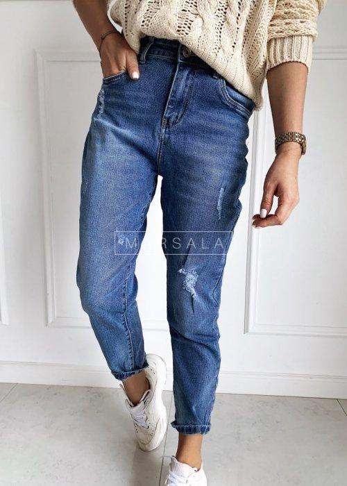 Spodnie jeansowe o kroju boyfriend MOM FIT