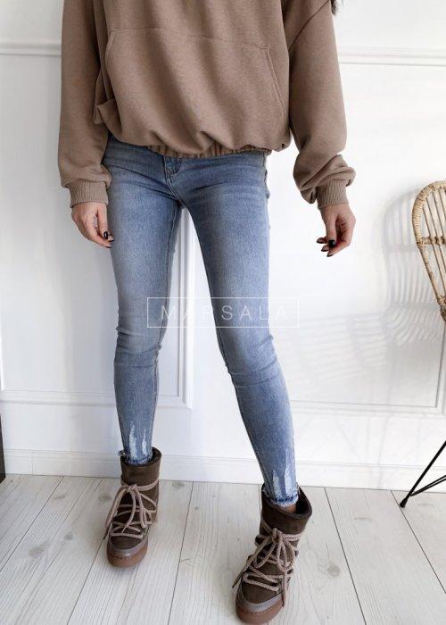 Spodnie jeansowe BOISE jasne z suwakiem skinny