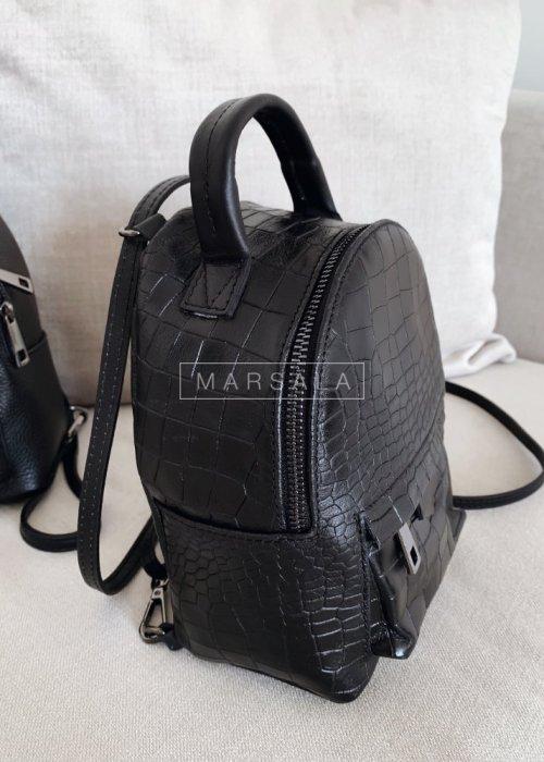 Plecak w wersji mini z tłoczonej skóry - MONACO no.2