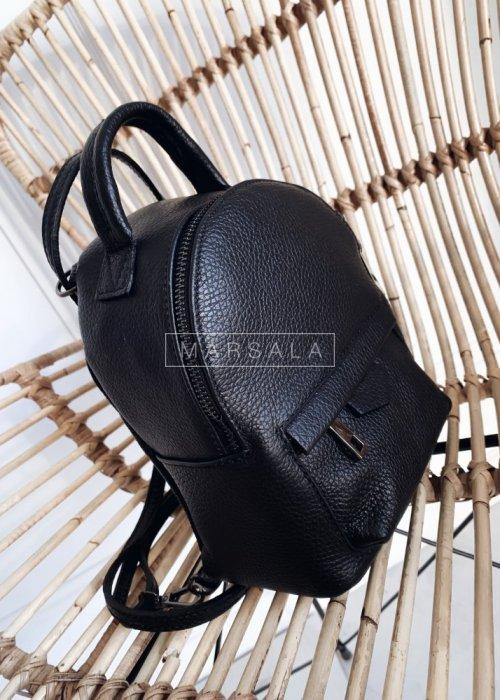 Plecak w wersji mini z gładkiej skóry - MONACO no.1