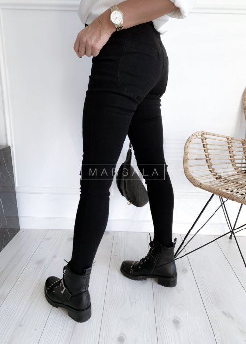 Spodnie czarne z efektem push up - VOLUME BLACK