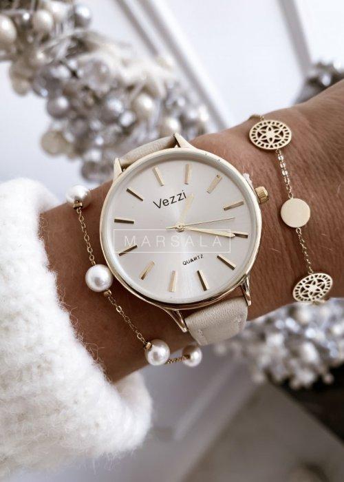 Bransoletka PEARL w kolorze złotym z perełkami