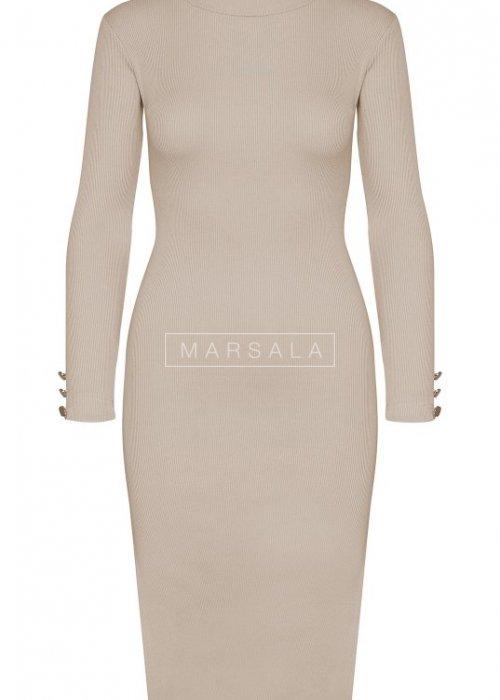 Beige long sleeved dress - GOLD BY MARSALA