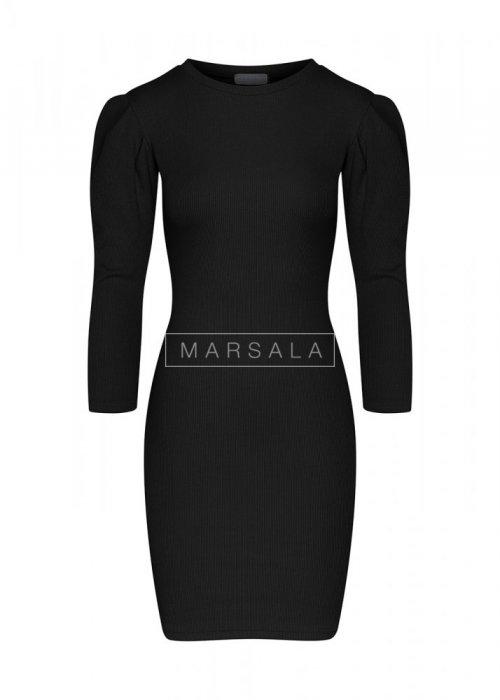 Sukienka dopasowana KYLIE z bufkami czarna