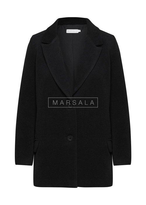 Krótki płaszcz jesienno - zimowy w kolorze czarnym - DIVISION BY MARSALA