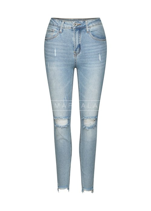 Spodnie jeansy z dziurami i poszarpaną nogawką - STANLEY