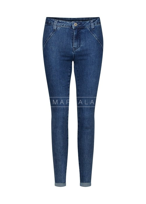 Spodnie jeansowe z efektem push up - VOLUME BLUE