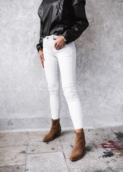 Spodnie jeansowe w kolorze białym - PARSLEY