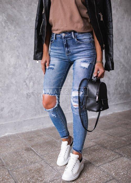 Spodnie jeansowe z dziurami - TEENAGE