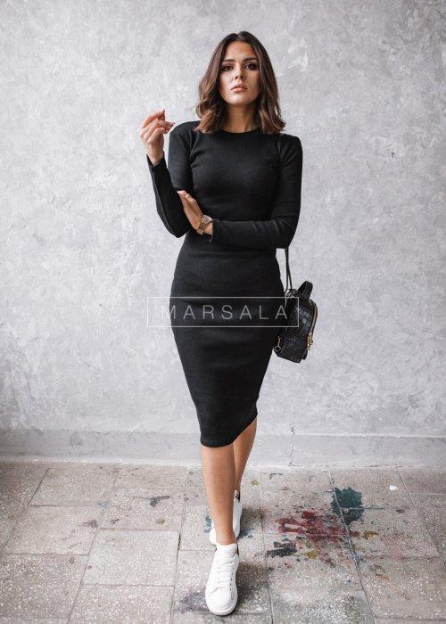 Dopasowana sukienka maxi w kolorze czarnym - KYLIE MIDI