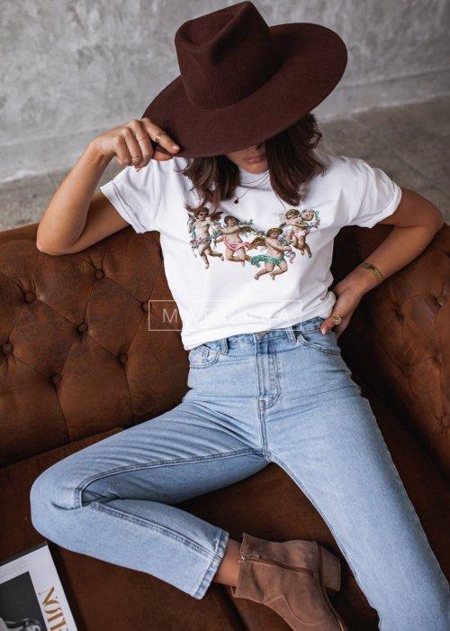 Spodnie jeansowe gładkie typu mom fit - HILLS