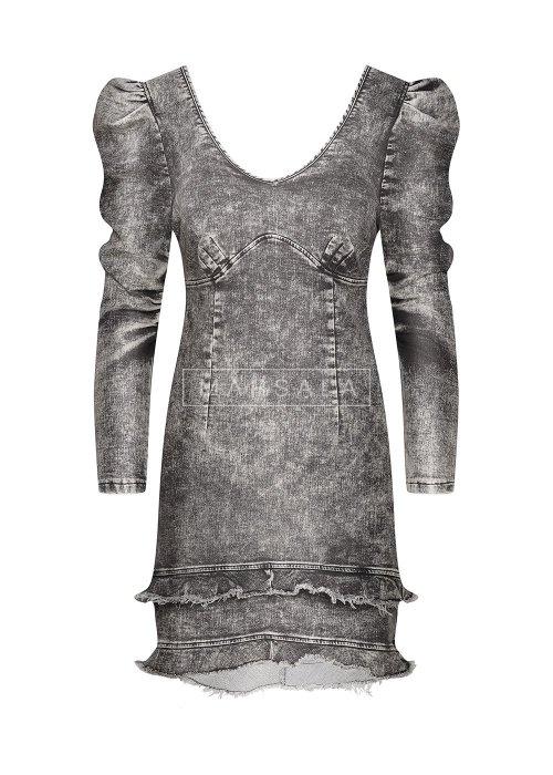Sukienka jeansowa z falbankami - ALEXA BLACK