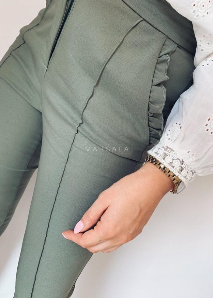 Spodnie cygaretki khaki - SUPREME