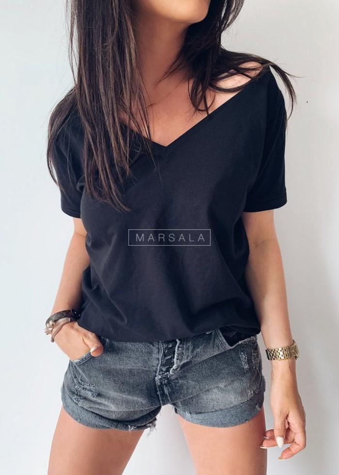T shirt V NECK BASIC black