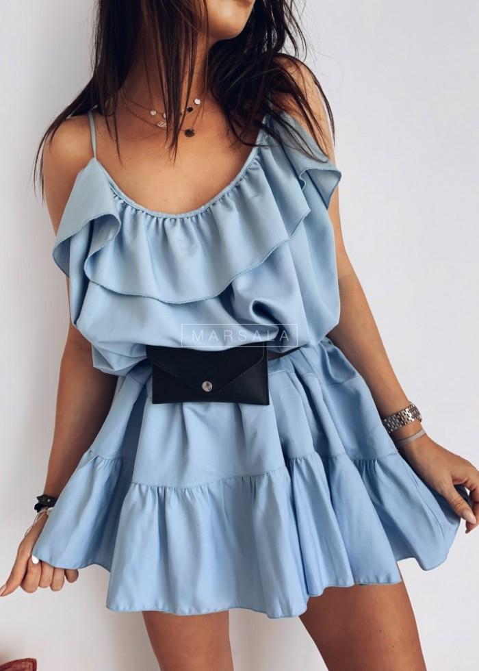 Sukienka na cienkich ramiączkach MALIBU BY MARSALA blue