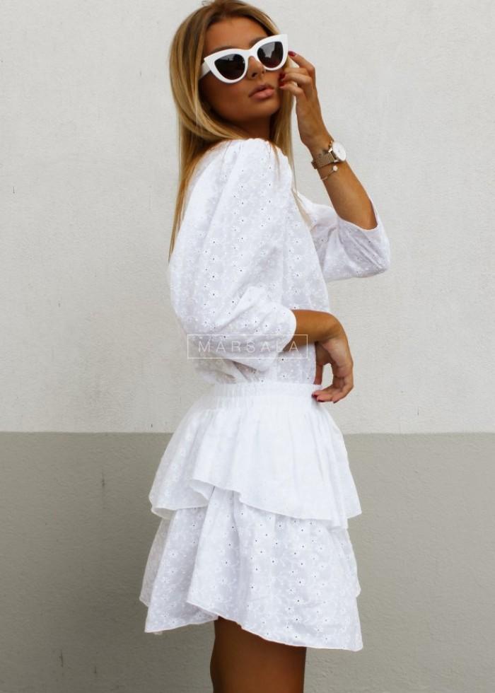 Spódniczka LAGOON BY MARSALA ażurowa biała x Karolina