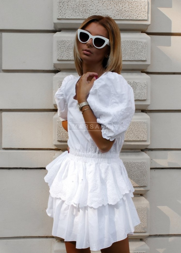 Sukienka LA PALMA BY MARSALA biała x Karolina