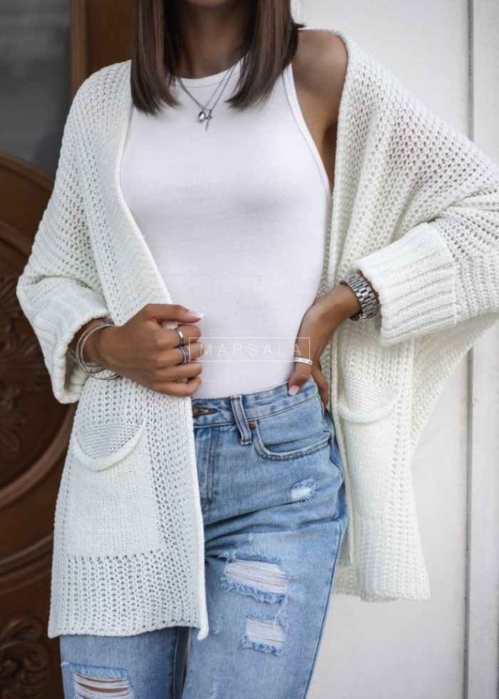 SOMFY cardigan with ecru pockets