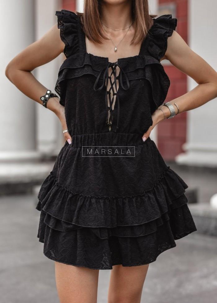 Sukienka CABANA by Marsala ażurowa czarna