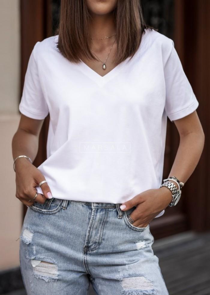 T shirt V NECK BASIC ecru