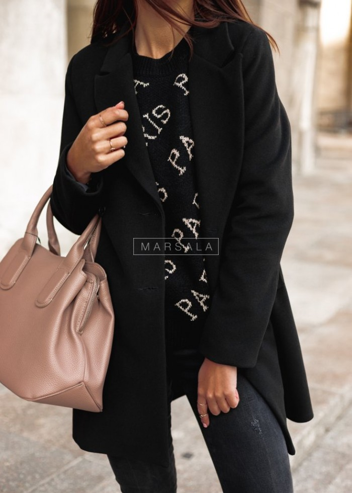 Long black coat STYLISH BY MARSALA