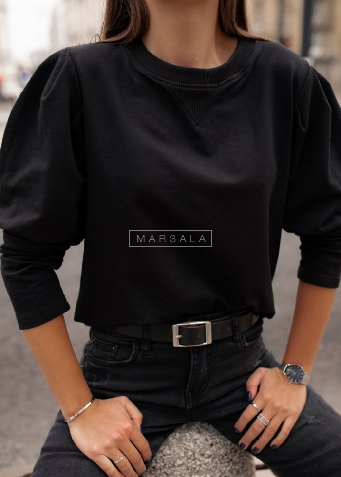Black puff blouse - FEMALE by marsala