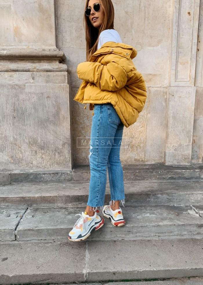 Short down mustard jacket– WINTER