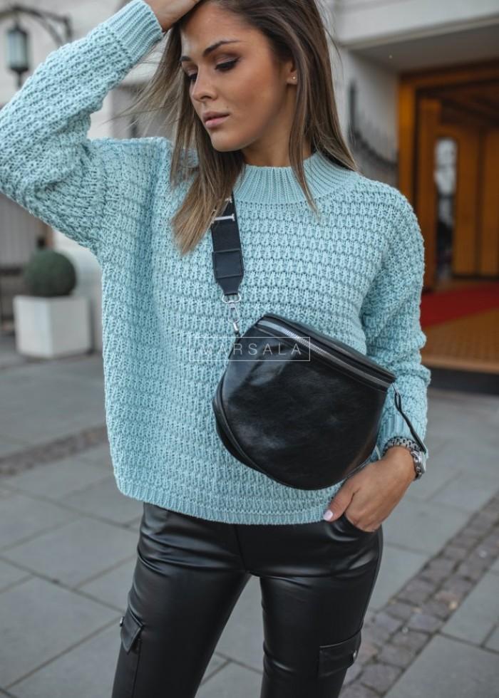 Crew-neck mint sweater – DARCY