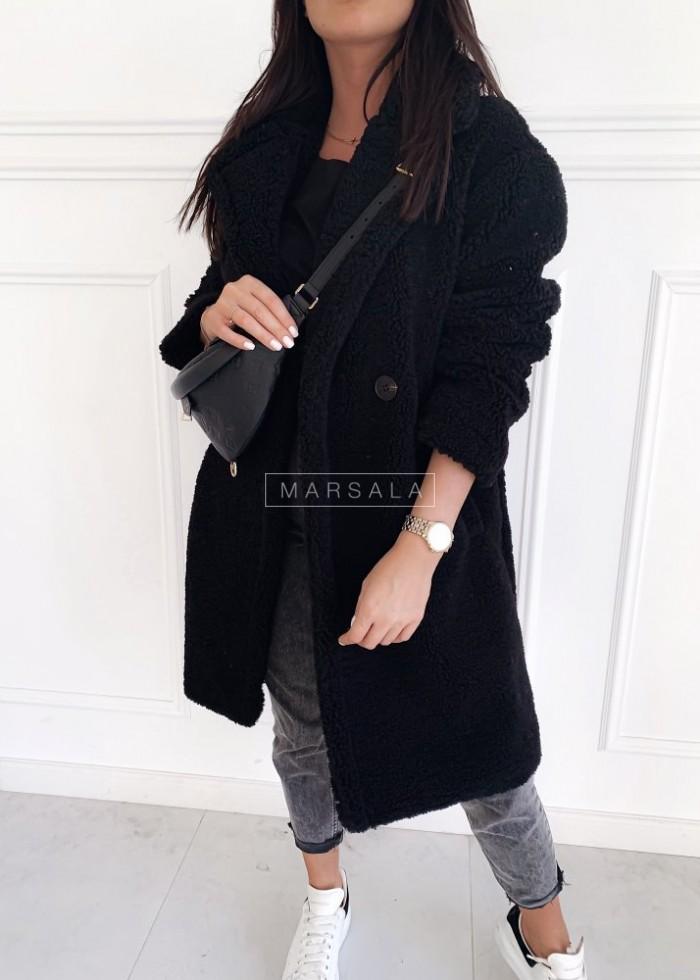 Oversized black fur/plush coat – MALMO