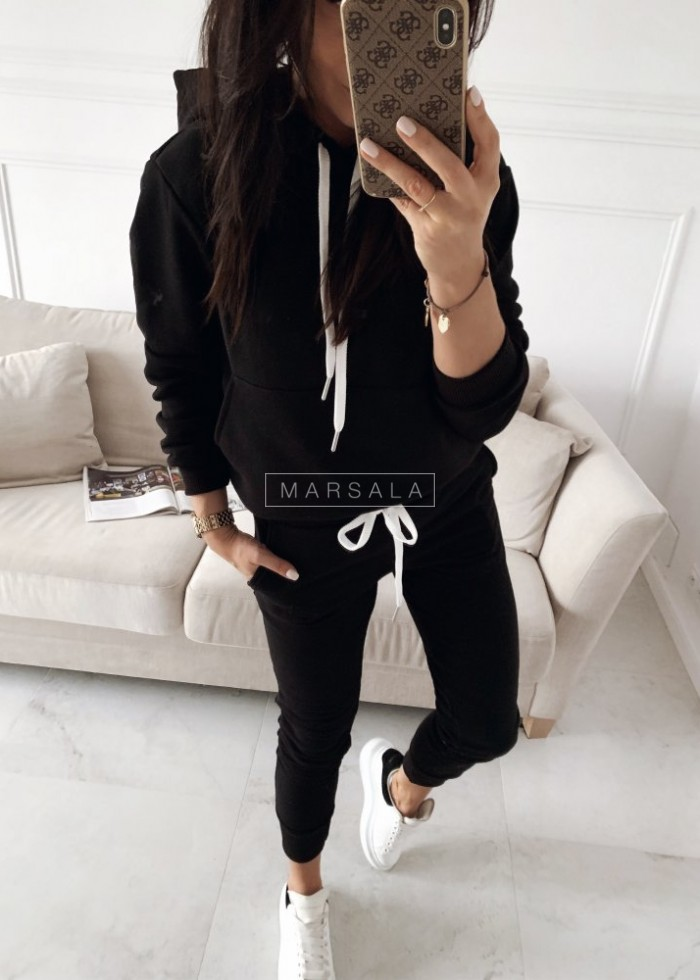 Sweatshirt + black trousers set - CASUAL BY MARSALA
