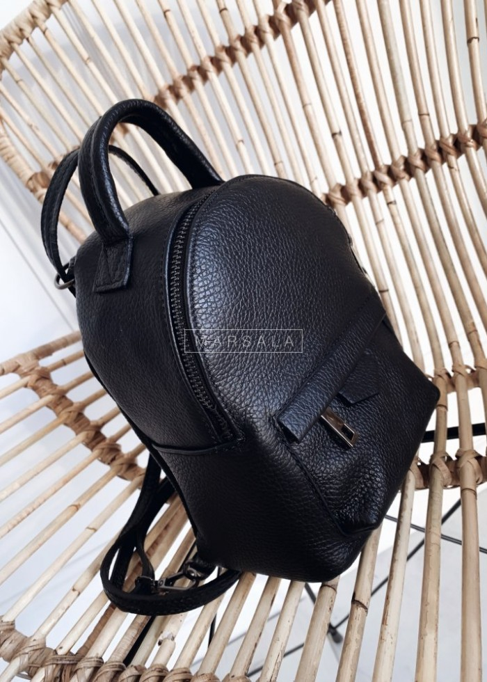 Mini backpack in smooth leather - MONACO no. 1