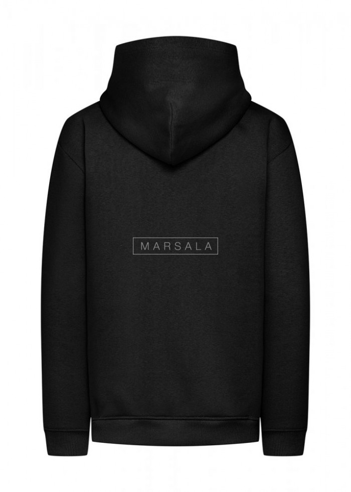 BASIC BY MARSALA hooded sweatshirt black