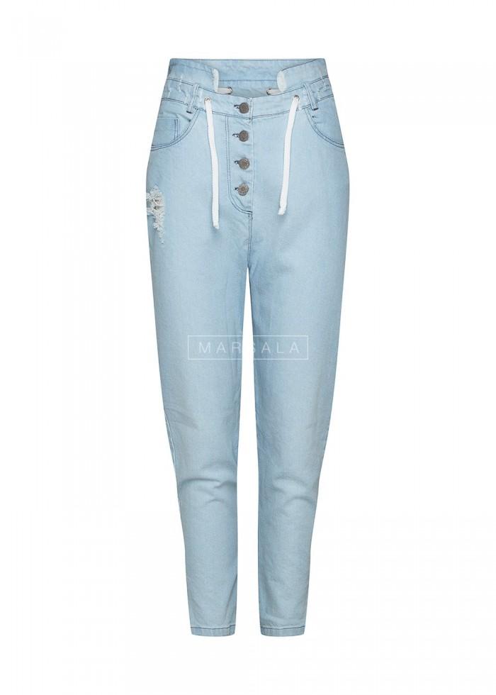 Spodnie BAGGY BLUE wiązane x Karolina