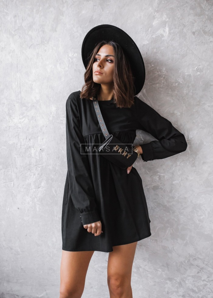 Long-sleeved dress in black - NATALY by Marsala