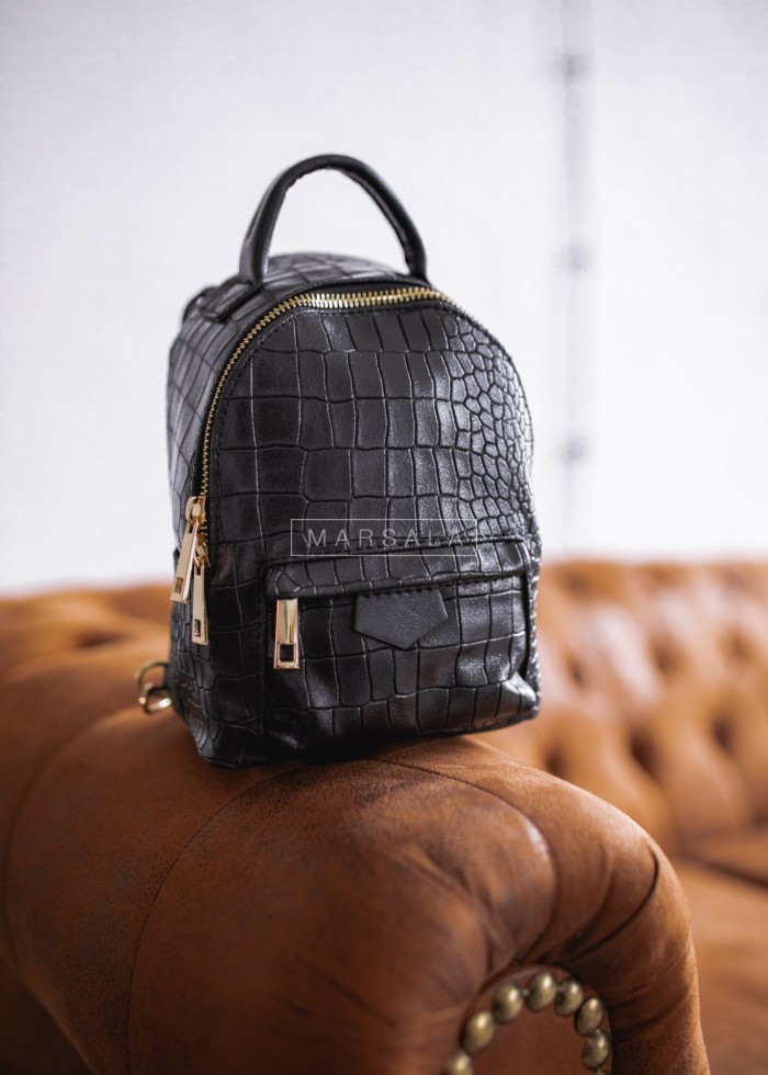 Mini backapck in pressing leather and gold details - MONACO no. 3