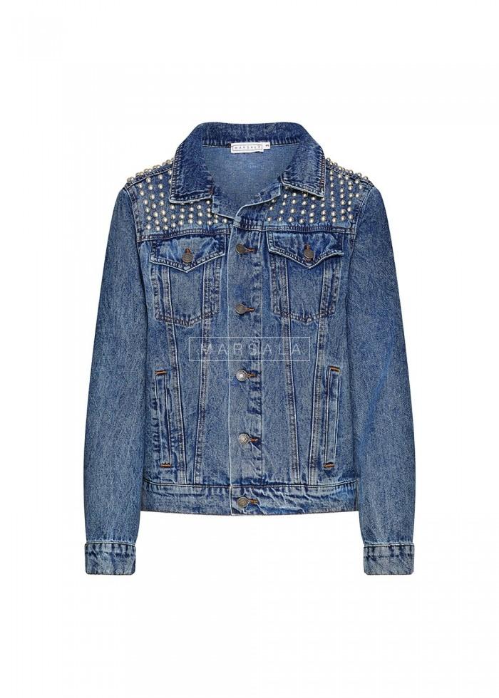 Kurtka PRINCE z dżetami jeansowa