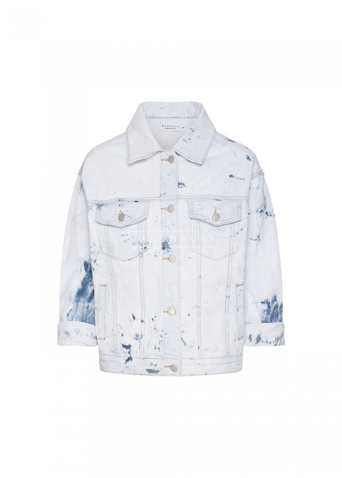 Denim jacket WASHOUT coloured