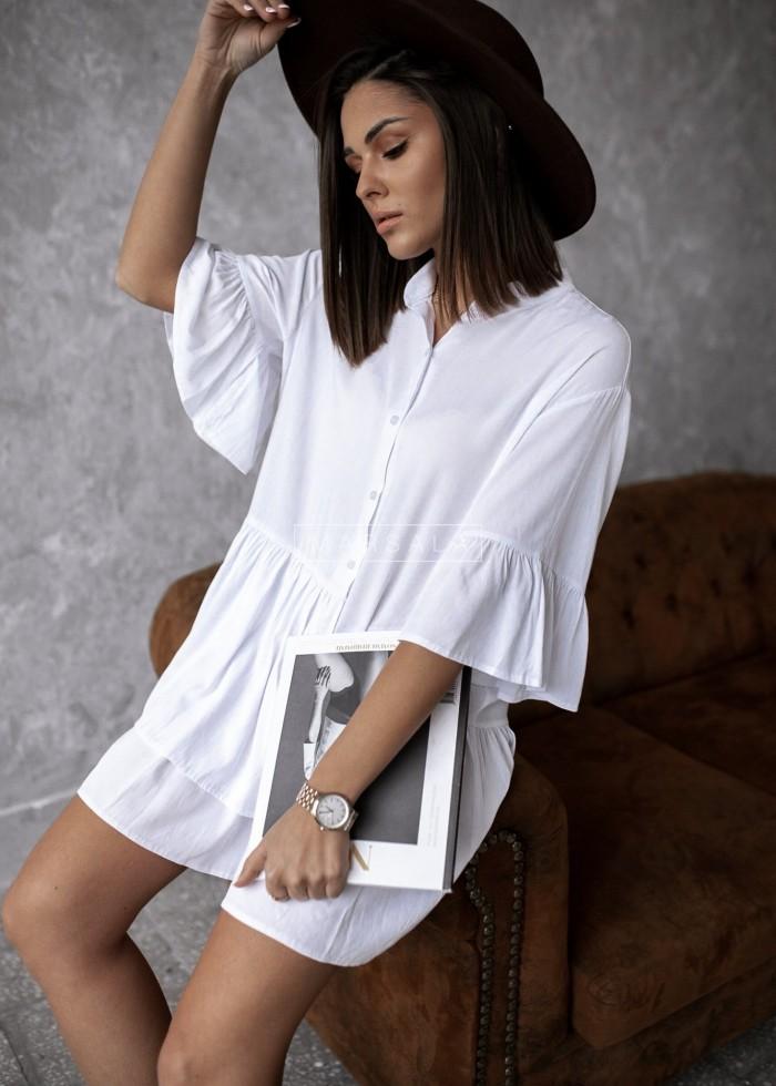Sukienka koszulowa biała - VIENNA BY MARSALA