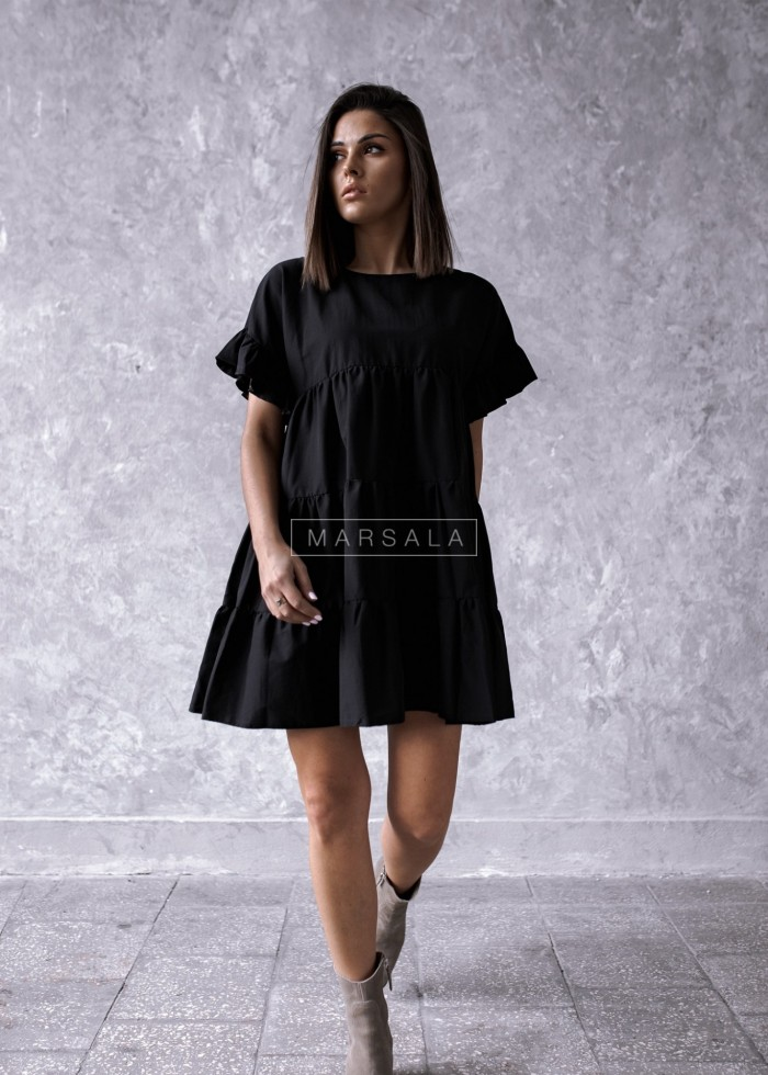 Dress MELANIE BY MARSALA with stitches black