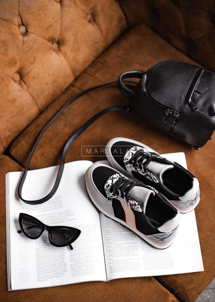 Buty sportowe adidasy czarno - szare - GYM BLACK-GREY