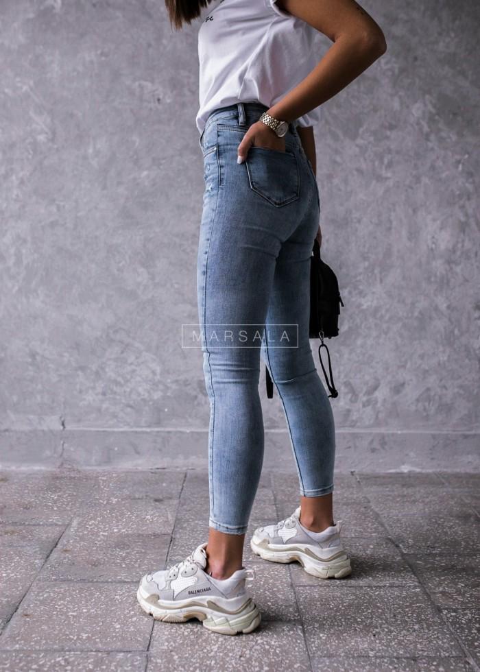 Spodnie jeansowe dopasowane jasne - ICON