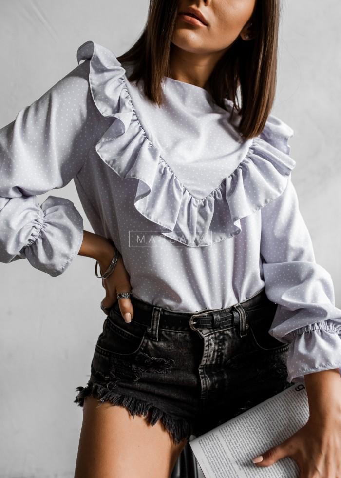 Bluzka w kolorze szarym w kropeczki - ALIZE DOTS