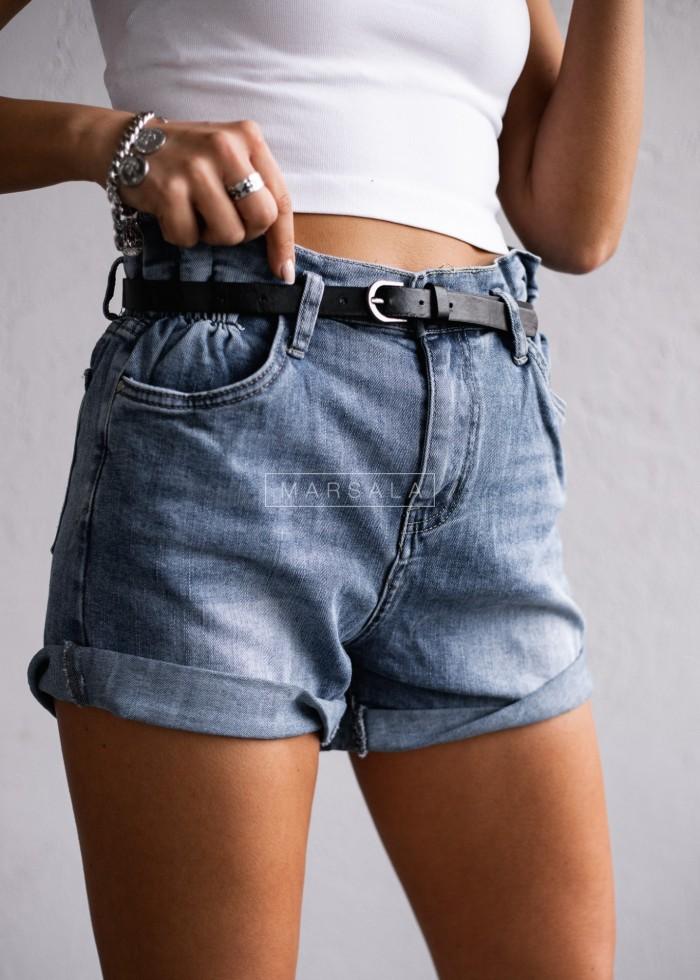 Spodenki z paskiem jeansowe - ANDY JEANS