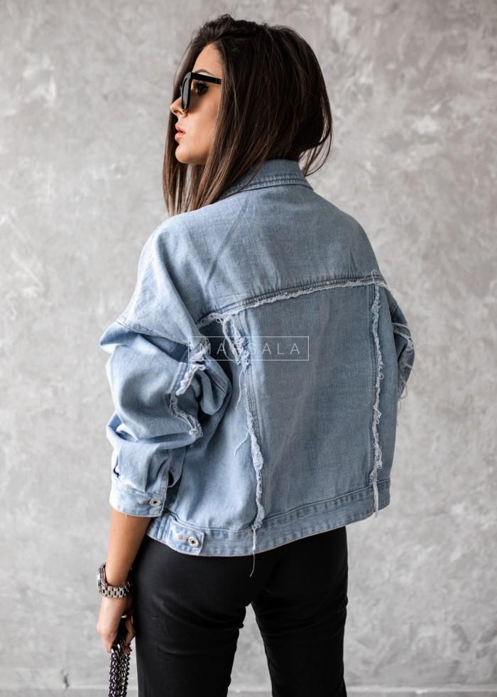 Kurtka jeansowa krótka błękitna - HILTON BLUE