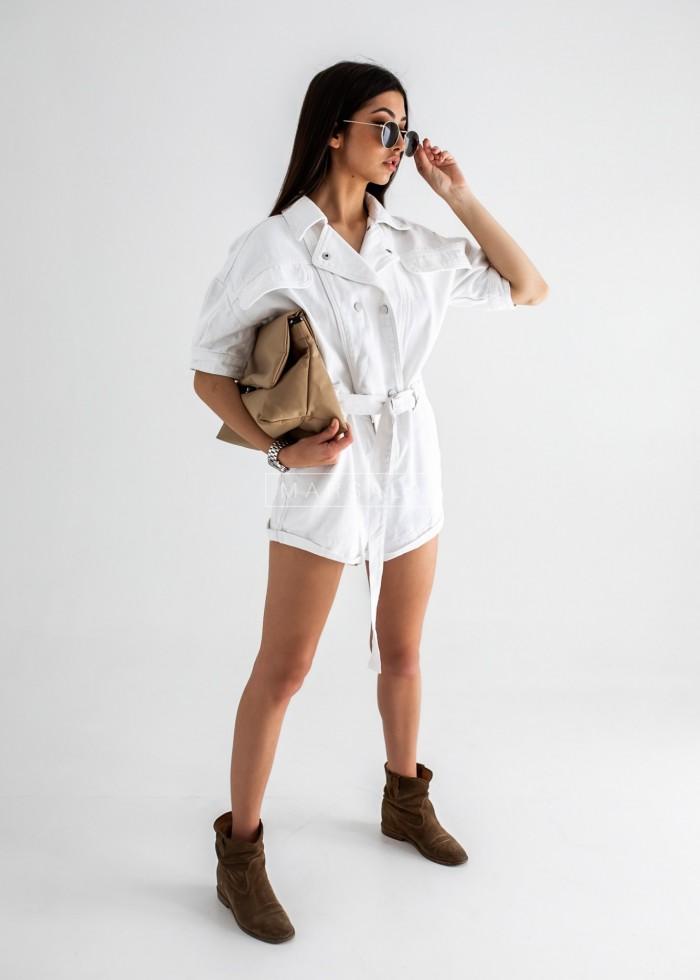 Kombinezon jeansowy w kolorze białym - CHARLIE WHITE