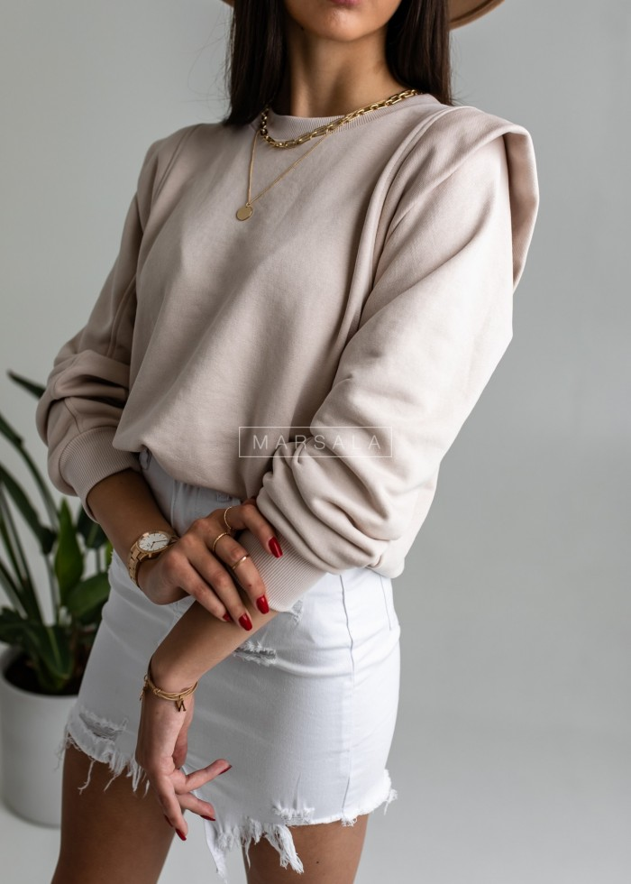Sweatshirt in beige - GALAXY by Marsala
