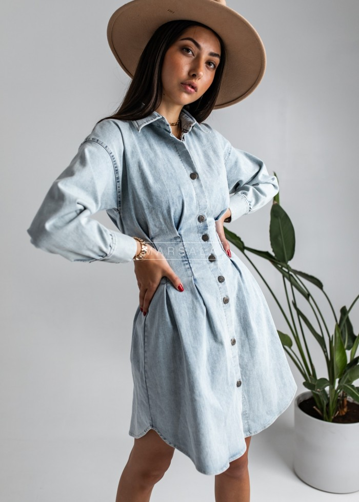 Light denim shirt dress - JACKIE BY MARSALA